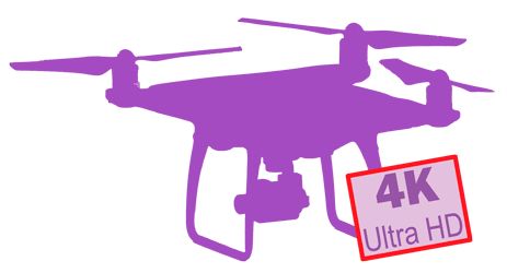 denux productions logo drone